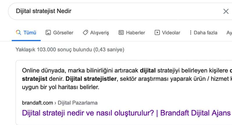seo stratejisi, featured snippet